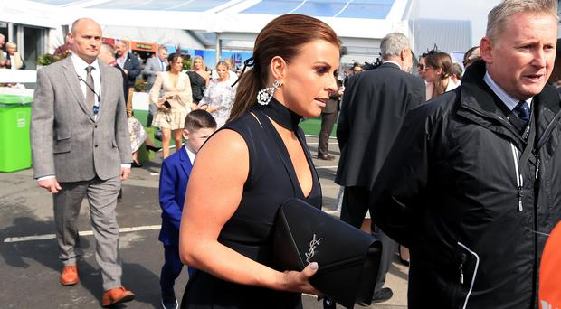 Coleen Rooney arrives for the Grand National (Peter Byrne/PA)
