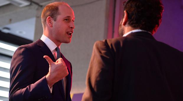 The Duke of Cambridge at a Welcome to the UK reception (Ben Stansall/PA)