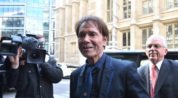 Sir Cliff Richard arrives at the Rolls Building in London for his continuing legal action against the BBC (Kirsty O'Connor)