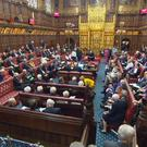 Peers in the House of Lords, as the Government suffered its first defeat in the Lords over the European Union (Withdrawal) Bill after peers voted in favour of a customs union amendment (PA)