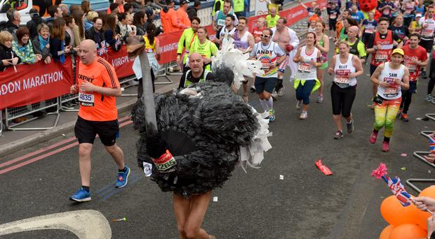London Marathon says reconsider fancy dress in record heat