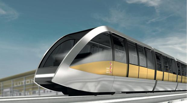 An artist's impression of the light railway (London Luton Airport/PA)