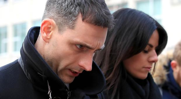 Peter Morrison outside Liverpool Crown Court in January (PA)