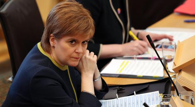 Nicola Sturgeon refused to name the consultant who met Cambridge Analytica before the 2016 Holyrood elections (Jane Barlow/PA)