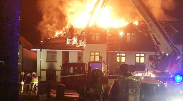 The fire broke out at a care home for adults with learning difficulties in Chingford (London Ambulance HART/PA)