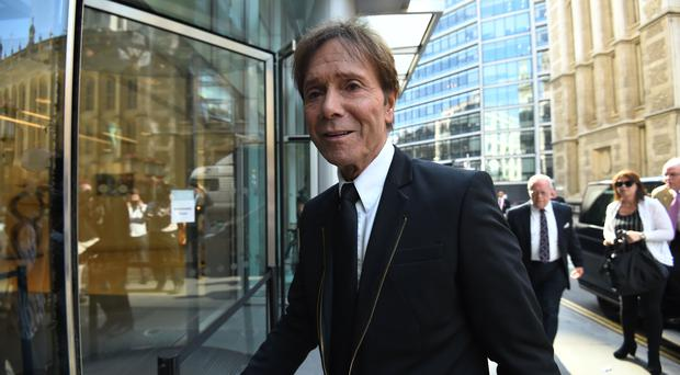 Sir Cliff Richard arrives at court (Kirsty O'Connor/PA)