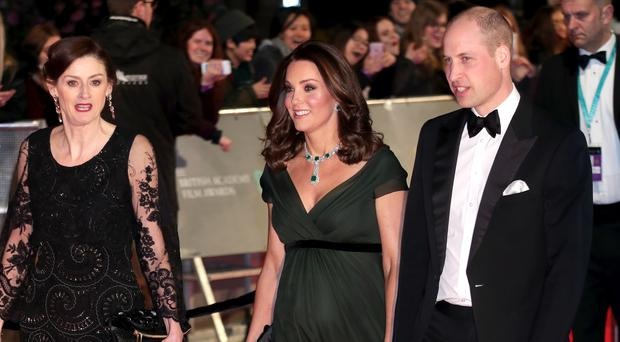 The Duke and Duchess of Cambridge attending the EE British Academy Film Awards (Yui Mok/PA)