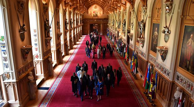 Commonwealth leaders at Windsor Castle for their retreat. (Ben Stansall/PA)