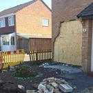 The home in Clevedon, Somerset, where a woman died after a vehicle smashed into it. (Claire Hayhurst/PA)