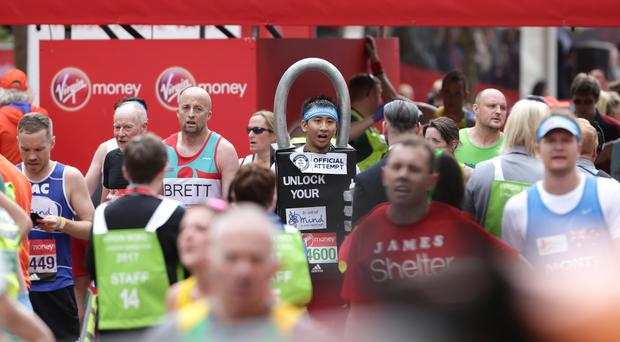 Competitors take part in the Virgin Money London Marathon in 2017 (Yui Mok/PA)