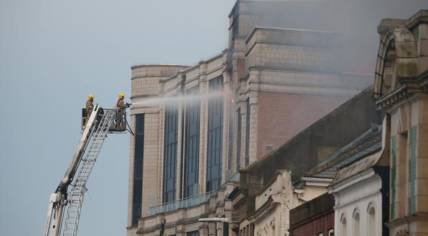 Firefighters tackle a blaze in central Bournemouth (Martin Keene/PA)