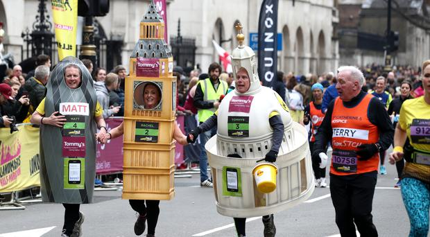 Runners have been warned about wearing fancy dress costumes with temperatures set to soar (John Walton/PA)
