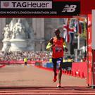 Sir Mo Farah finishes third in the Men's Marathon during the 2018 Virgin Money London Marathon (Paul Harding/PA)