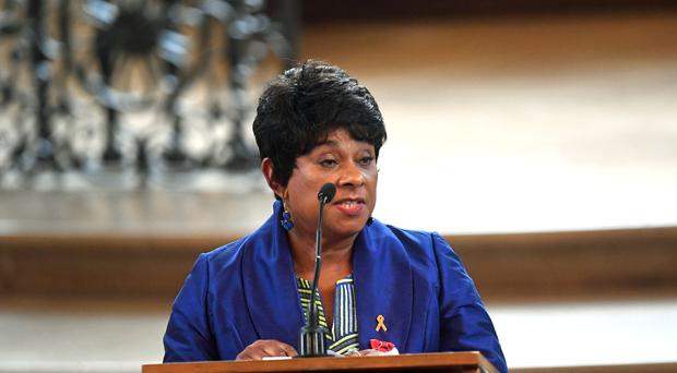 Baroness Lawrence speaking during the memorial service (Victoria Jones/PA)
