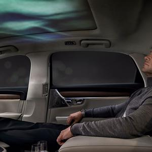 The visual element is displayed on the car's ceiling (Volvo/PA)