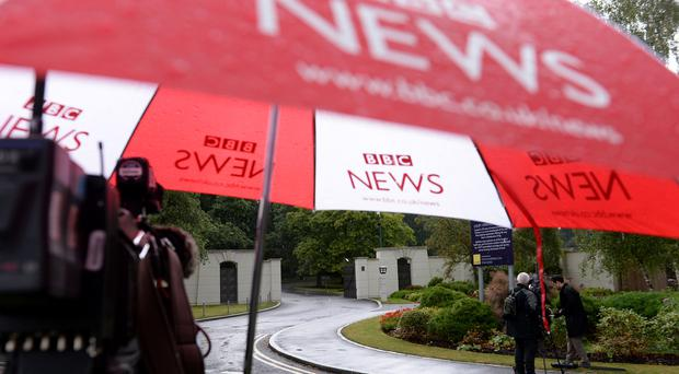 Media presence in 2014 outside the Charters Estate in Sunningdale, Berkshire, where police searched an apartment belonging to Sir Cliff Richard (Andrew Matthews/PA)