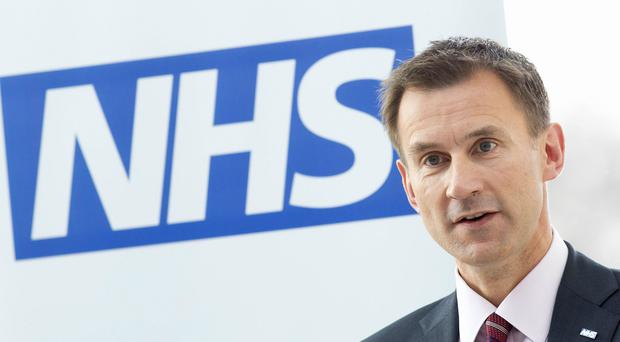 Jeremy Hunt said health and social care must be 'properly joined up' (Neil Hall/PA)