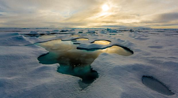 Scientists examined the presence of tiny plastic particles in sea ice (Alfred Wegener Institute/ S Hendricks/PA)