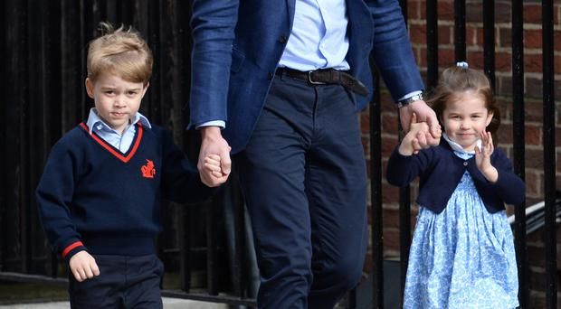 Princess Charlotte on her way to visit her brother (Kirsty O'Connor/PA)