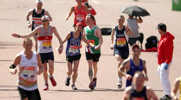 Running has been found to give a sense of achievement and self confidence (Paul Harding/PA)