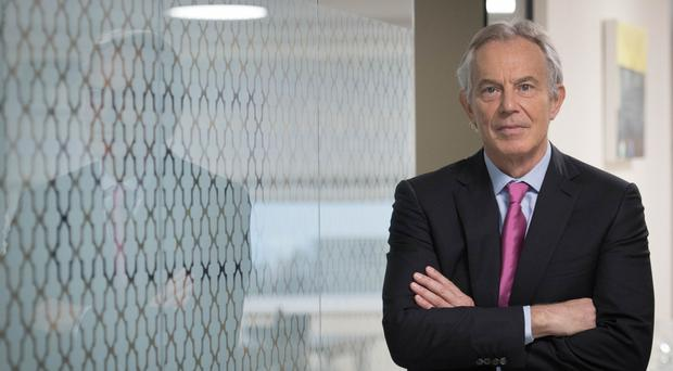 Mr Blair underlined the need for European unity in partnership with the US (Stefan Rousseau/PA)