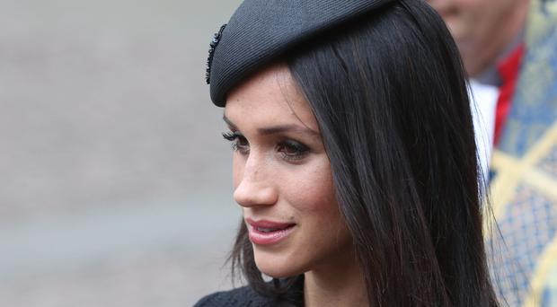 Meghan Markle leaving the annual Service of Commemoration and Thanksgiving at Westminster Abbey to commemorate Anzac Day (Jonathan Brady/PA)