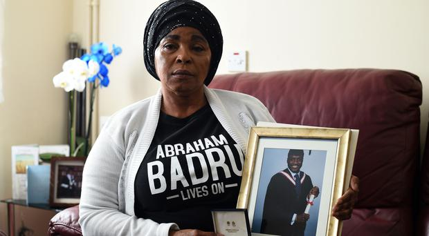 Ronke Badru, the mother of Abraham Badru who was shot dead in Hackney (Kirsty O'Connor/PA)