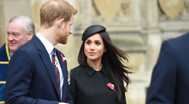 Prince Harry and Meghan Markle at the Service of Commemoration and Thanksgiving to mark Anzac Day