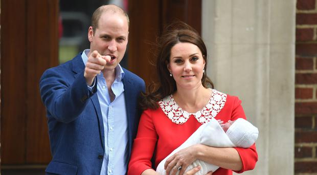 The Duke and Duchess of Cambridge and baby son (Dominic Lipinski/PA)