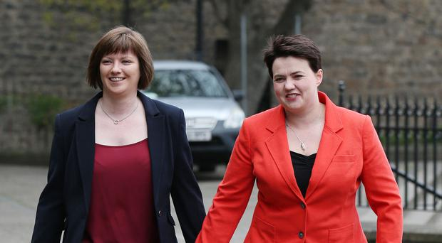Scottish Conservative leader Ruth Davidson has announced she is pregnant with her first child (Andrew Milligan/PA)