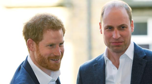 Prince Harry and Prince William arrive for the opening of the Greenhouse Centre in London (Toby Melville/PA)
