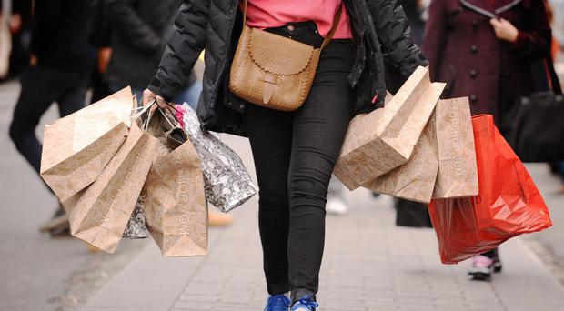 Retailers were hit by bad weather in March (Dominic Lipinski/PA)