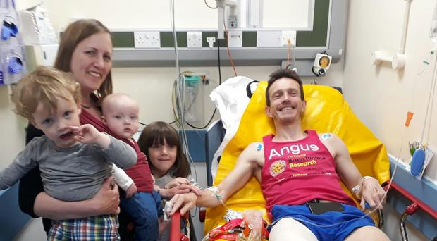 Angus Cameron recovers in hospital (Angus Cameron/PA)