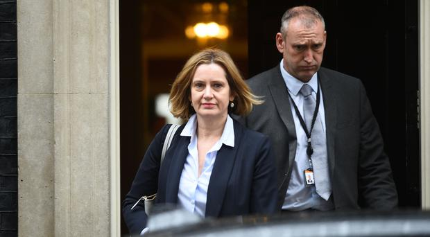 Amber Rudd said she had not seen a leaked internal memorandum referring to the targets (Kirsty O'Connor/PA)