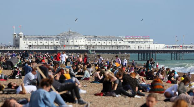 Britons are opting to stay in the UK for their holidays (Gareth Fuller/PA)