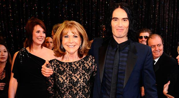 Russell Brand with his mother Barbara in 2011