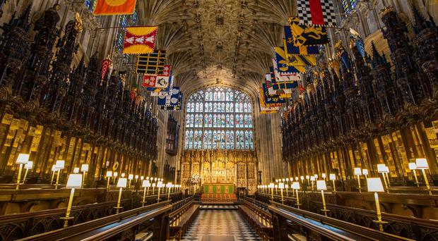 The Quire in St George's Chapel at Windsor Castle (Dominic Lipinski/PA)