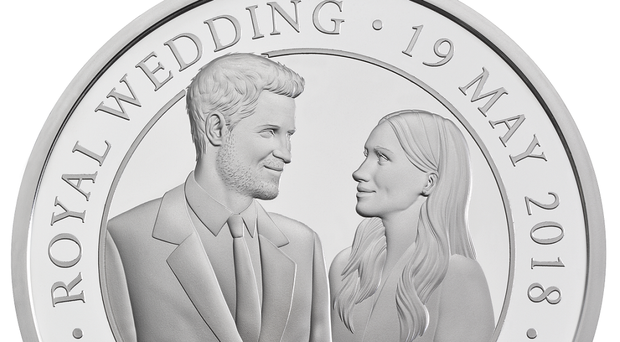 The Royal Mint coin celebrating the royal wedding (Royal Mint/PA)