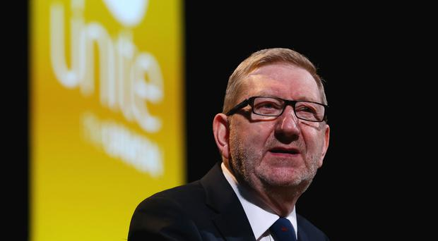 Len McCluskey beat Gerard Coyne last April in the Unite election (Gareth Fuller/PA)