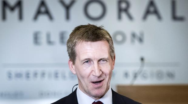 Dan Jarvis after being elected as the Sheffield City Region mayor (Danny Lawson/PA)