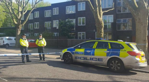 Police at the scene in Southwark (Catherine Wylie/PA)