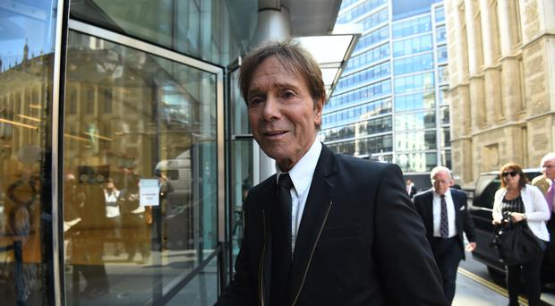 Sir Cliff Richard's dispute with the BBC is being heard at the High Court (Kirsty O'Connor/PA)
