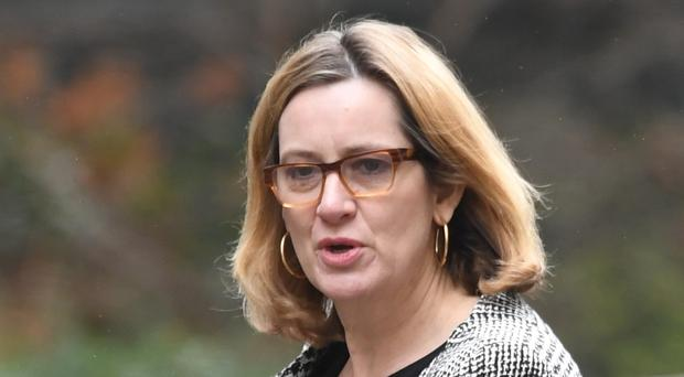 Amber Rudd, who resigned as home secretary in April (Stefan Rousseau/PA)