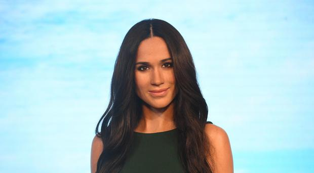 Meghan Markle's wax figure is unveiled at Madame Tussauds