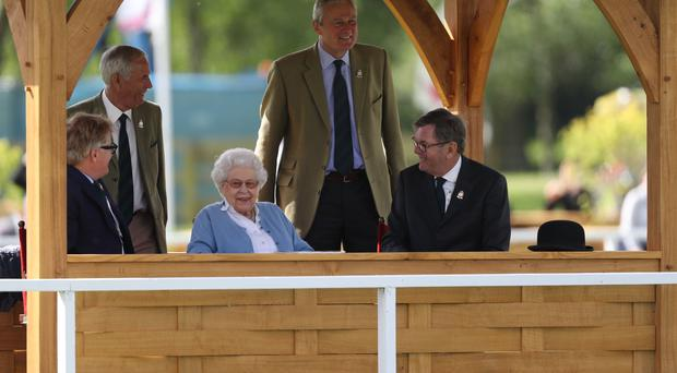 The Queen during the Royal Windsor Horse Show at Windsor Castle, Berkshire (Steve Parsons/PA)