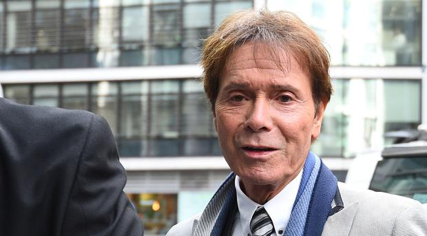 Sir Cliff Richard arrives at the Rolls Building in London for the continuing legal action against the BBC (Kirsty O'Connor/PA)