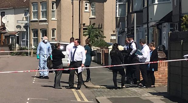 Police at the scene in Barking, east London (Thomas Hornall/PA)