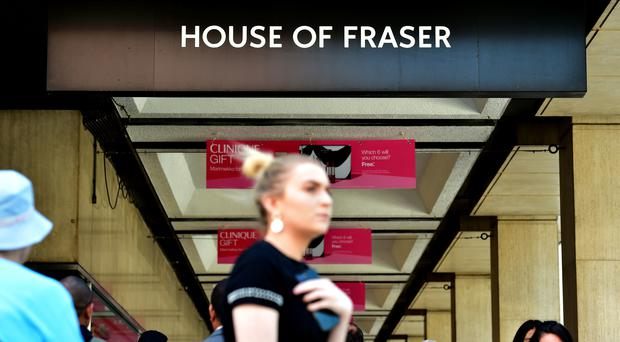 House of Fraser future is on the line after it swung to a massive loss in 2017 (PA)