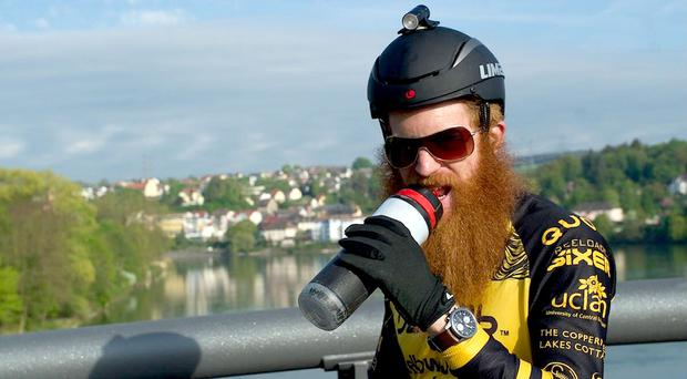 Sean Conway has completed a 3,980-mile trip across Europe on a bicycle (Sean Conway/Yellow Jersey/PA)