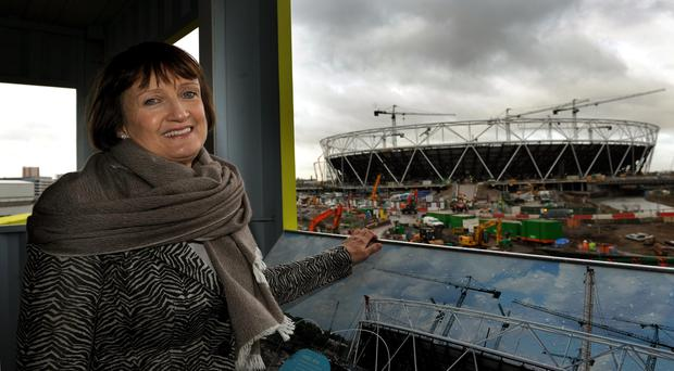 Tessa Jowell at the Olympic Park in Stratford, east London (Anthony Devlin/PA)